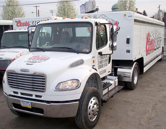 Freightliner M2 Coors Light Mickey Beverage Trailer