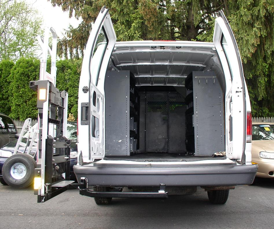 The HTS-20S swings outward 90 degrees to clear rear door.