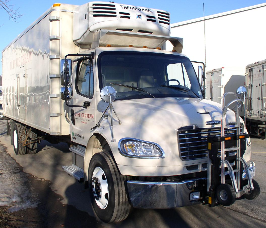 Huff Ice Cream Delivery Truck  Ryder Freightliner M2  Magliner Hand Truck